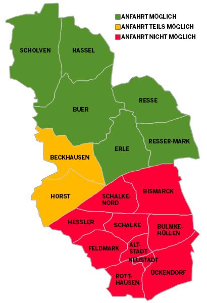 Gelsenkirchen Karte